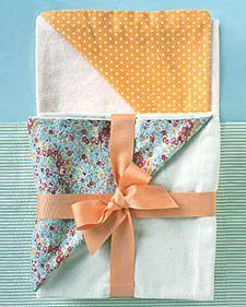 Easy-peasy baby blankets