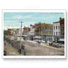First Ave., Cedar Rapids, Iowa 1911