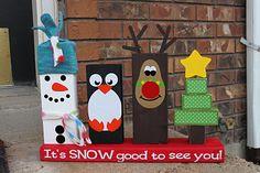 @ Alana. Keeping it Simple: Christmas 2x4 porch decoration