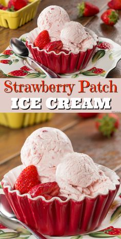 We're making it super easy to make homemade strawberry ice cream. This ice cream is made with just 5 ingredients and no fancy equipment!