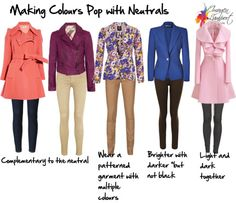 Making colours pop with neutrals