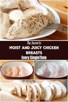 This is the secret to moist and juicy chicken breasts every single time. It's so easy and once you know this tip you'll never make chicken any other way again.