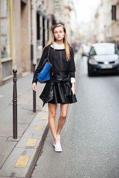 #leather #skirt