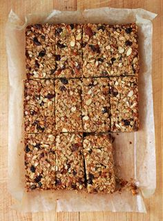 Chewy Fruit & Nut Granola Bars: 4 cups rolled oats 1 cup raw sliced ...