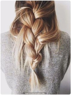 Try the un-done braid for the effortless look.