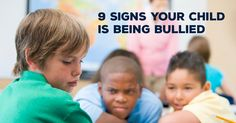 Most kids don't tell their parents they're being bullied. Here are 9 signs to lookout for. #Bullying