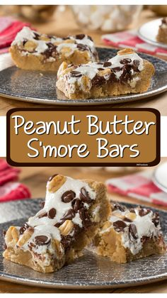 A chunky peanut butter crust and a s'mores-style topping makes this a must-try dessert. It's easy to get hooked on these bars!