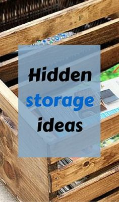 How to make hidden storage from wooden crates