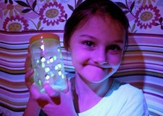 """Girl Scouts Daisies - Between Earth and Sky - Ideas for earning the Firefly Award...""""Glow-in-the-Dark Firefly Jar,"""" """"Bandage Lightning Bugs"""" craftivity, easy glow stick experiment, firefly book suggestion and more."""