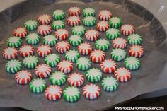 Peppermint Candy Trays - and fluted bowls too! - Mrs Happy Homemaker