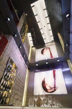 la cave a vin 9 wine bar by cyrille druart paris store. Black Bedroom Furniture Sets. Home Design Ideas