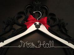 Disney Bridal Hanger Wedding Hanger Brides Hanger by GetHungUp, $32.00