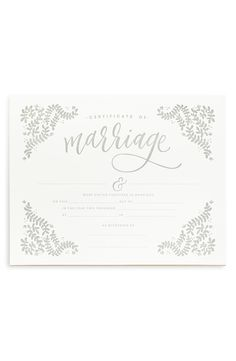 This elegant, decorative marriage certificate is ideal for framing and serving as a treasured memento of the special day.