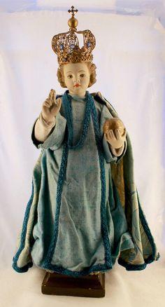 Antique Infant Jesus of Prague Statue by NotreDameDeParis
