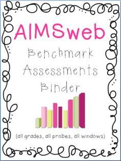 RTI Universal Screening Assessments Binder Set: AIMSweb or DIBELS