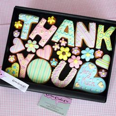 Large Personalized 'Thank You' cookie gift box
