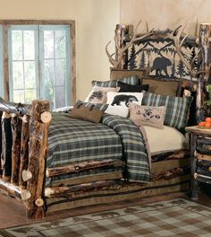 Bedroom And Log Bed S On Pinterest Log Bed Beds And Aspen