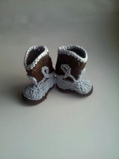 Cowboy Boot Booties for Baby Boy  Crochet in by MimisBabiesProps, $20.00