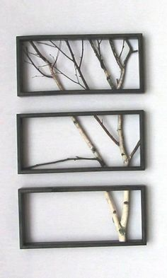 Tree art ...could put colored blossoms on the limbs with fabric flowers