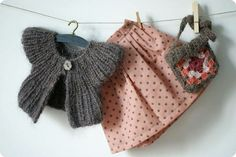 Crochet Knit Stitch Waldorf : doll clothes...yoked knitted jacket, crochet square purse, box pleated ...