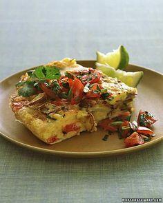 This tasty potato omelet takes less than 15 minutes to make. | RECIPES ...