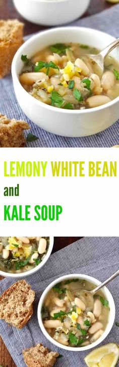 deliciously simple 30 minute LEMONY WHITE BEAN AND KALE SOUP packed ...