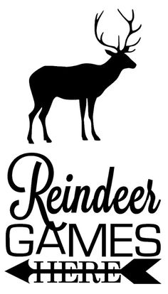FREE silhouette cut file for a cute Reindeer #Christmas sign