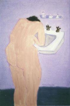 Milton Avery  Sunday Morning, 1962 #nudes #portrait #bathroom