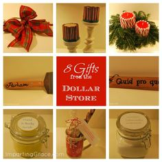 Imparting Grace: 8 Gifts made from Dollar Store Items.  Simple and so inexpensive!