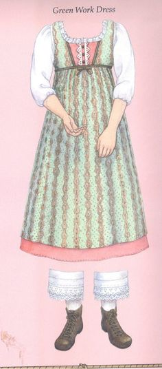 American Girl Caroline's Work Dress from the paper doll set