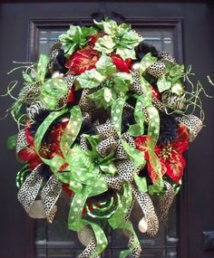 Winter Wreath Funky Christmas Wreath Leopard by LuxeWreaths, $174.00