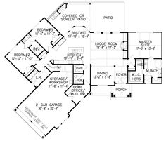 Rustic Country House Plans Architectural Designs. Rustic. Home ...