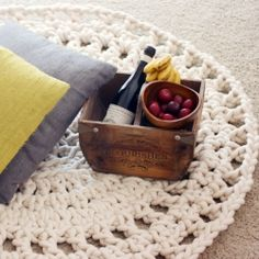 Take crocheting to the next level with a rope rug. This DIY includes a downloadable pattern so you can make your own 4-foot rug.