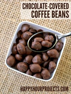 Chocolate Covered Coffee Beans. These look so easy to make! YUM!!
