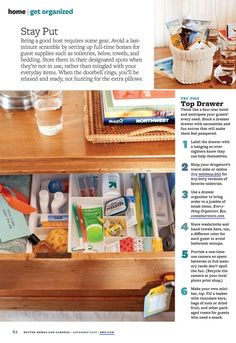 guest services. how to be organized and welcoming to your future house guests via BHG magazine.