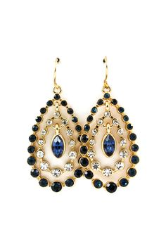 Beverly Teardrop Earrings in Sapphire on Emma Stine Limited
