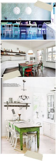 Couleur Peinture Living : chaises cuisineKs Office  Pinterest  Vintage Interiors