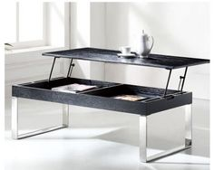 Slender Modern Lift Top Storage Coffee Table