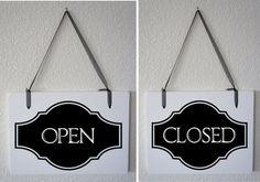 Office Door Sign Meeting in Progress / Open Business ...