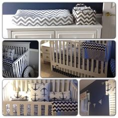 Project Nursery - Nautical Navy and Grey