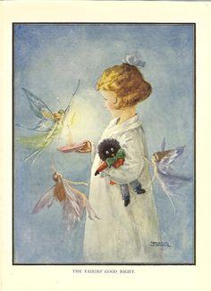 "1920s  vintage print ""The Fairies Good Night""  By Grace Jones. via Etsy."