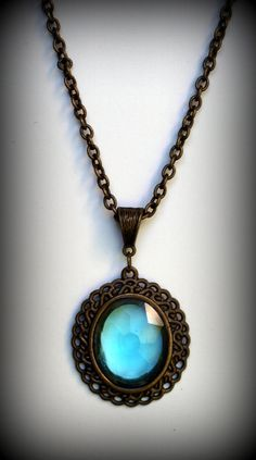 Bell Bottom Blues Bohemian Style Necklace by GypsysWagon12 on Etsy, $12.00