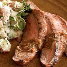 Tomato-Herb Marinated Flank Steak #eatingwell