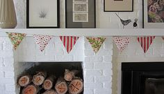 Christmas Wrapping Paper Bunting