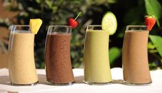 """Smoothies from the """"Daniel Plan"""". With what's in them, you'd be surprised how good they are. :)"""