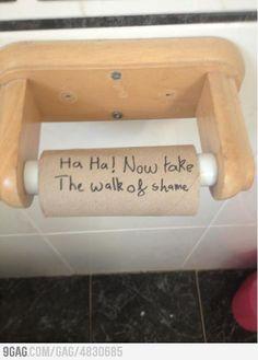 Bathroom humor, for sure!