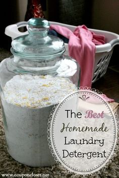 Homemade Laundry Detergent doesn't have to be difficult. See how to make homemade laundry detergent in no time. We made enough to last our family for just $20 for an entire year.