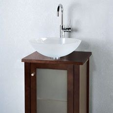 wide to save room in a super small bathrom contempo cami 18 bathroom