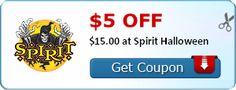 $5.00 off $15.00 at Spirit Halloween