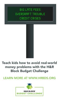 and Freebies...H R Block Budget Challenge